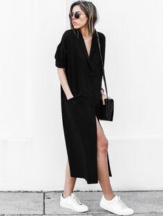 Le parfait look noir et blanc #62 (robe/manteau Asos - photo Modern Legacy)