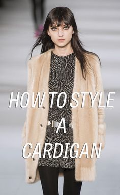 How to style a cardigan like it's 2014.