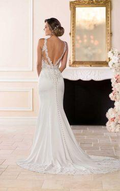 6610 Elegant Backless Wedding Gown by Stella York