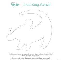 We asked one of our designers to make a Lion King stencil, inspired by Rafiki's drawing of Simba.