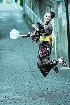 Yukata! Less formal than a Kimono and more light weight.