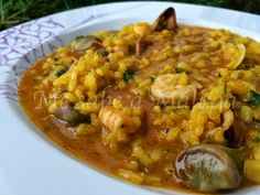 Cocina – Recetas y Consejos Risotto Recipes, Rice Recipes, Seafood Recipes, Kitchen Dishes, Kitchen Recipes, Veggie Dishes, Savoury Dishes, Couscous, Rissoto