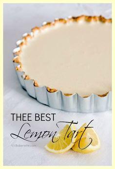 ***Bakerette | Thee Best Lemon Tart Filling in a Shortbread Crust