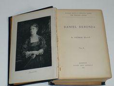 Antique book Daniel Deronda by George Eliot 1887 by designfinder10, $12.99