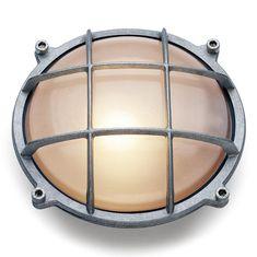 Round aluminum bulkhead light