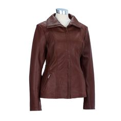 Leather Scuba Jacket with Side Straps
