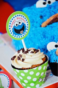 Etsy printable package for Alli's Cookie Monster birthday party