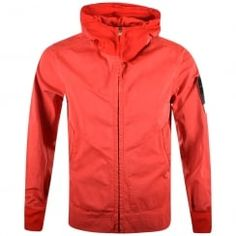 Stone Island Red David Jersey-TC Jacket. Available now at www.brother2brother.co.uk