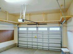 Garage House, Garage Shed, Garage Doors, Car Garage, Garage Plans, Garage Bench, Diy Garage Storage, Garage Shelving, Garage Ceiling Storage