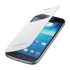 SAMSUNG S-View Cover [White], Etui z klapką do GALAXY S4 mini