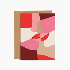 For the art lovers in your life. Abstract lines and rosey hues form a kiss on this elegant Valentine. Small Business Cards, Business Card Size, Origami Letter, Creative Wedding Gifts, European Wedding, Valentine's Day Greeting Cards, Letter Set, Abstract Lines, Lovers Art