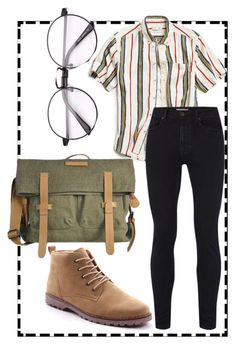 """""""90s work boy"""" by flanneltrash on Polyvore featuring Urban Outfitters, Topman, Sherpani, men's fashion and menswear"""