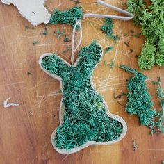 Follow the Swedish tradition & create an Easter Tree with homemade decorations. Easy to make and keep for years - moss hanging bunnies!