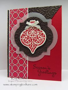 Pretty Christmas card using the stamp/die set that is part of this month's promo!