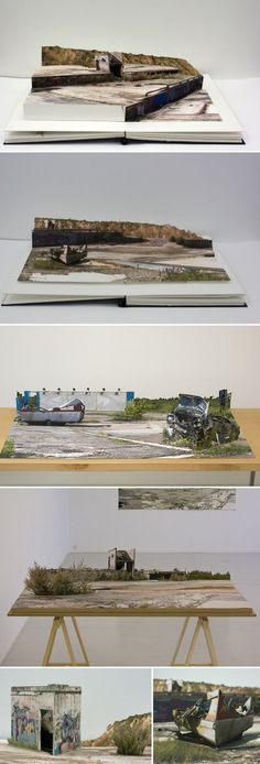 Collage Pop-Up Books