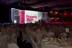 Projection mapping set at the RESI Awards 2014. Event design and management by Emily Briday