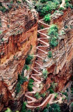 Switchback Trail, Zion, Utah photo via americanhiking