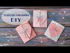 Post card - Envelope with heart DIY. how to make a valentine post card. Teachers Day Card, 1 Year Anniversary Gifts, Heart Diy, Diy Chalkboard, Card Envelopes, Creative Cards, Diy Cards, Origami, Post Card
