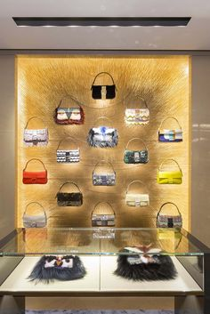 The interior of the Fendi store in Hong Kong. [Photo by Gareth Jones Photography]