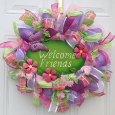 """""""THIS WREATH WAS PURCHASED AS PART OF THE SPRING DECOR FOR A NAIL SALON. IT ARRIVED QUICKLY, IS OF EXCELLENT QUALITY AND ABSOLUTELY BEAUTIFUL. THE OWNER OF THE SHOP CAN'T WAIT TO DISPLAY IT""""...KaylasKreationsTX on Etsy - Shop Reviews"""