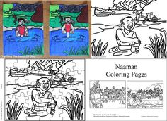 bible coloring pages naaman - photo#25