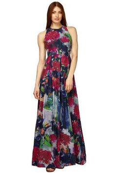 ea90b8dc0bb6 Couture Candy - Phoebe Couture - Floral Silk Cotton Maxi Dress in Multi