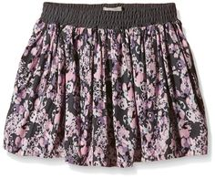 NAME IT Girl's Skirt -  Grey - 122 cm