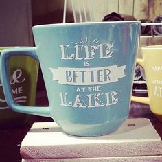 Set of 5 Lake House mugs / coffee cups / outdoors by TheCozeeShack