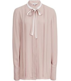 REISS - TALA BOW DETAIL SHIRT