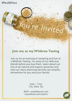 Wildtree Tasting Invitation