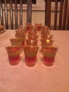 layered vodka, jello shots