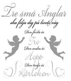 Tre små änglar ska följa dig på livets väg
