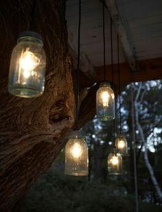 Mason Jar Lights for the hallway and living room