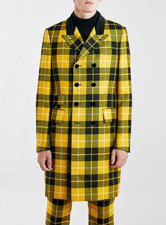TMD Yellow English Check Jacket