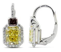 Natural Color Diamond Earrings