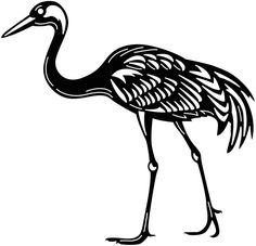 Cnc Programming, Japanese Crane, Crane Bird, Cnc Wood, Cnc Machine, Lake View, Cnc Plasma, Kirigami, Metal