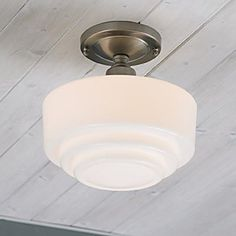 Classic retro school house light.  Norwell 5361F Schoolhouse Flush Mount Ceiling Light