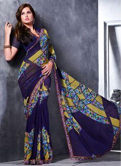 Festival Blue Trendy Saree
