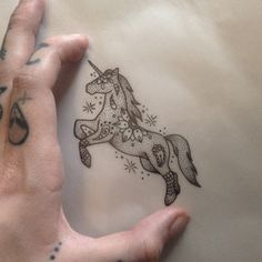Unicorn Tattoo by Medusa Lou Tattoo Artist - medusaloux@hotmail.com