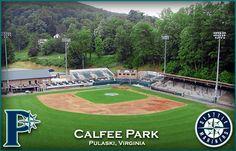 A beautifull minor league baseball stadium in Pulaski virginia where i spent one summer in my youth watching baseball
