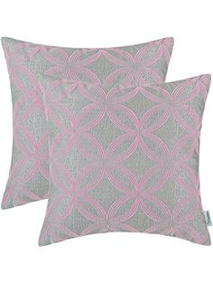 CaliTime Throw Pillow Covers 18 X 18 Inches, Flocking Circles Rings Geometric, Grey Baby Pink, Pack of 2 ❤ Qingdao Ray Trading Co. Pink Gray Bedroom, Turquoise Sofa, Throw Pillow Covers, Throw Pillows, Pink Sofa, Flocking, Home Gifts, Pink Grey, Decorating Your Home