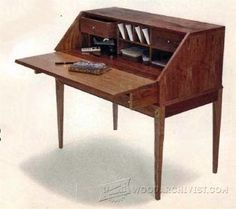 Fall Front Bureau Build- Furniture Plans and Projects | WoodArchivist.com