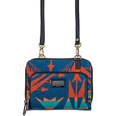 Women's Wallets - Pendleton Womens Wallet On A Strap One Size Echo Peaks Blue ** Visit the image link more details.