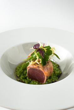 Tuna & Foie Gras, Herb Risotto, Salad Herbs - Steffen Sinzinger - The ChefsTalk Project