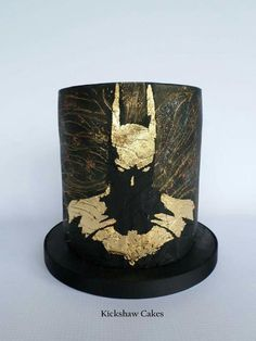 Golden Batman Silhouette - Cake by Kickshaw Cakes