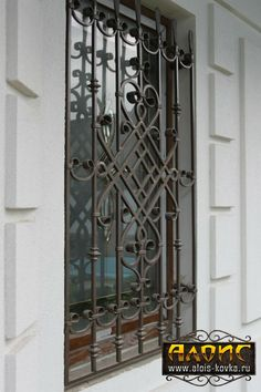 кованые решетки на окна Window Grill Design Modern, Grill Door Design, Window Design, Iron Windows, Iron Doors, Railing Design, Fence Design, Kitchen Window Bar, Iron Window Grill