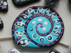 Kreakette Fimo Element Painted Rocks, Washer Necklace, Beads, Handmade, Jewelry, Fimo, Nice Things, Jewerly, Nice Asses