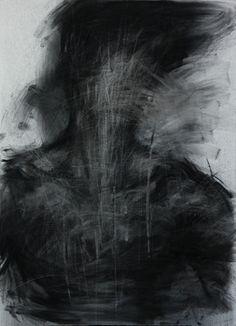 "Saatchi Online Artist KwangHo Shin; Drawing, ""[28] untitled charcoal  on canvas 72.5 x 50 cm 2013"" #art"