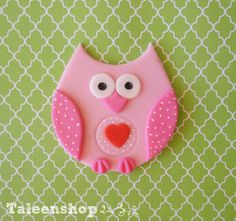 Pink Owl Cupcake toppers by Taleenshop on Etsy