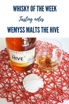 Wemyss The Hive Blended Malt whisky Whisky Tasting, Malt Whisky, Whiskey, Notes, Drinks, Bottle, Whisky, Drinking, Single Malt Whisky